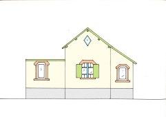 Maison, façade nord