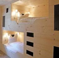 Deux cabines de lit très cocoon et bien éclairées