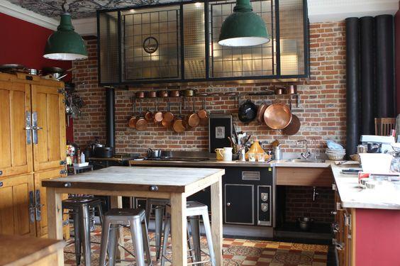 cuisine indus 2 d co couleurs. Black Bedroom Furniture Sets. Home Design Ideas