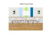 salle d'activité bleu vert A3