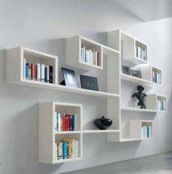 Etagères bibliothèque blanches