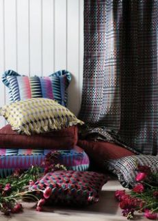Tissus et coussins pour l'hiver