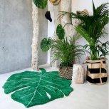 tapis-coton-feuille-verte-fleux