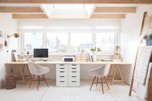 Bureau, ambiance scandinave pour deux personnes