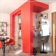 Cube rouge pour chambre et bureau