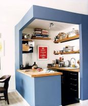 Cube cuisine bleu